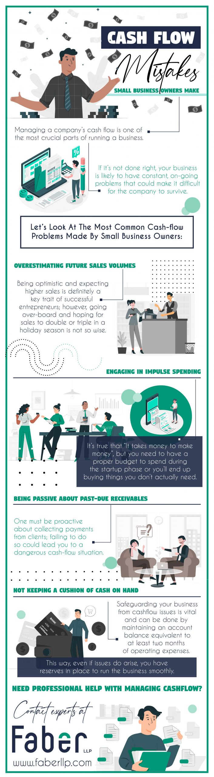 CashFlow Mistakes Small Business Owners Make - Infograph