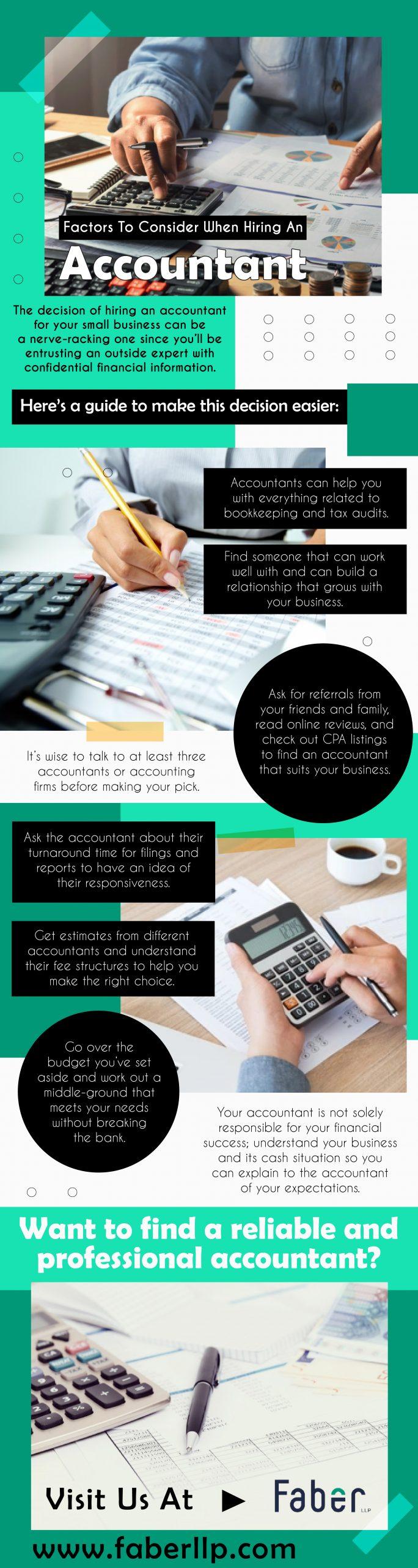 Factors to Consider When Hiring an Accountant - Infograph